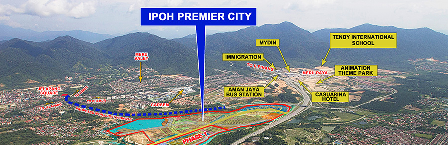 Ipoh Premier City Aerial View